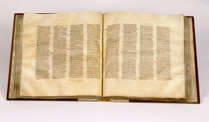 British Library, manuscript of the Codex Sinaiticus.