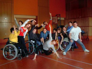 Cerebral Palsy Greece, the dance group being prepared for the Nightingale art seminar.