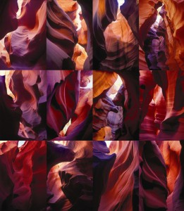 "Athena Tacha's work ""Red Waves – Arizona, 2002-05"""