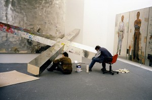 View from the mounting of the exhibition Tsoclis (2000)